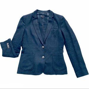 Massimo Dutti Wool Navy Skinny Fit Classy Blazer